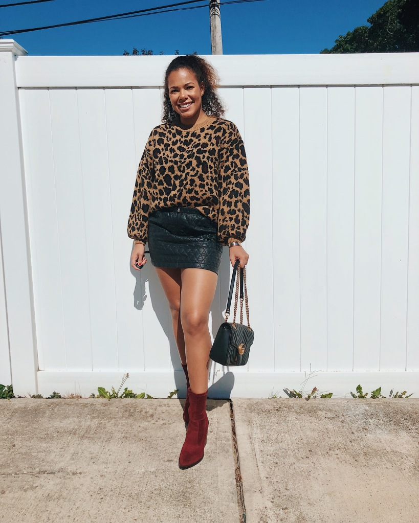 Karen Faye Style - How I Style Leopard Print Five Ways For Fall